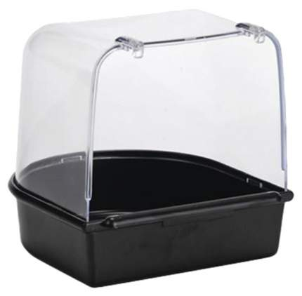 Beeztees Купалка пластиковая для птиц (черная), 13*13*13 см