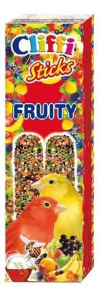 Лакомства для птиц Cliffi для канареек, палочки с фруктами и медом, 60г