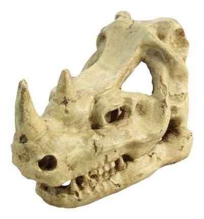 Грот для аквариума Laguna Череп носорога 2802LD, полиэфирная смола, 18х10,5х12 см
