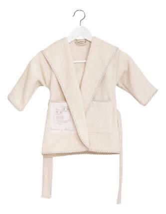 Халат Luxberry Совята жемчужный/коричневый/белый (9-10 лет)