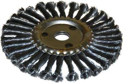 Щетка д/УШМ ф22,2/115мм дисковая сталь витая 51583