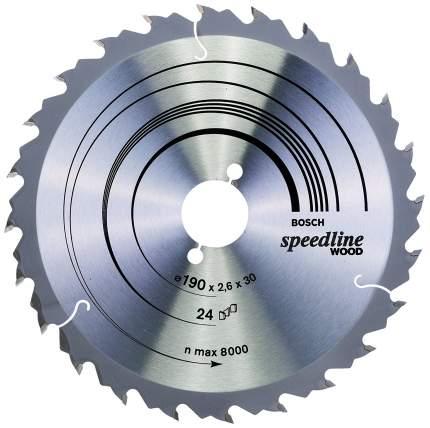Пильный диск по дереву Bosch STD SWO 190x30-24T 2608640801