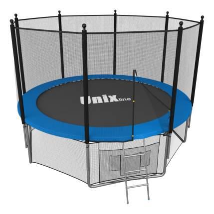 Батут Unix Line Outside с сеткой и лестницей синий 183 см