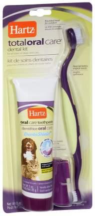 Набор по уходу за зубами для собак и кошек Hartz Total Oral Care Dental Kit