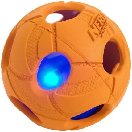 Апорт для собак NERF Мяч светящийся, желтый, оранжевый, длина 9 см