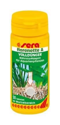 Удобрение для аквариумных растений Sera Florenette A, таблетки 50 шт.