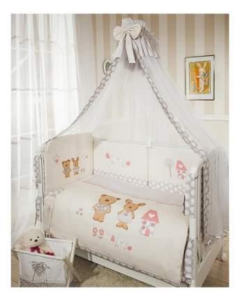 Комплект в кроватку Perina Венеция 3 предмета Лапушки бежевый