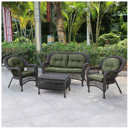 Комплект мебели из иск. ротанга LV520BG Brown/Green