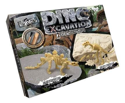 Набор юного палеонтолога Стегозавр и тираннозавр Dino Excavation Danko Toys DEX-01-03