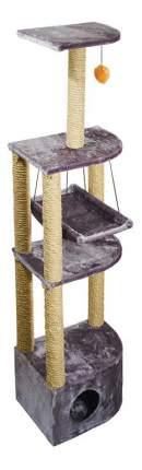 Комплекс для кошек Дарэлл  4-х уровневый угловой с гамаком 34,5х48,5х170 см