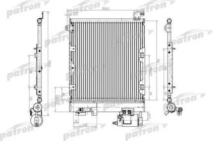 Радиатор кондиционера автомобильный PATRON PRS1179