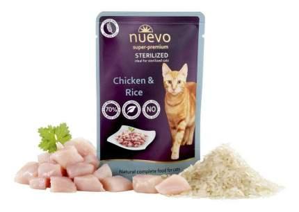 Влажный корм для кошек nuevo sterilized, курица, рис, 16шт по 85г