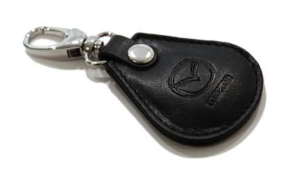Кожаный брелок для ключей Mazda Leather Keyring, Black, 830077551