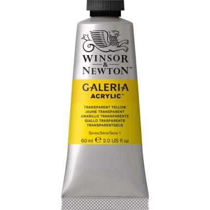 Акриловая краска Winsor&Newton Galeria прозрачно-желтый 60 мл