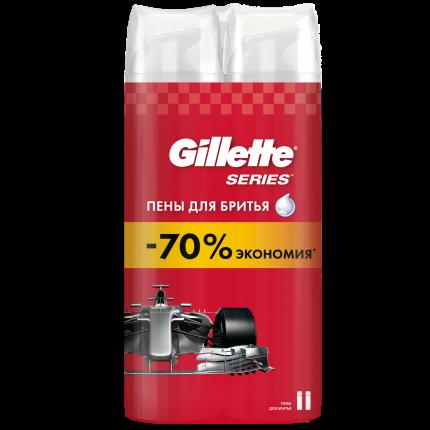 Набор из 2 пен для бритья Gillette Series 250 мл