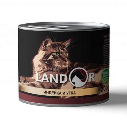 Консервы для кошек Landor, индейка с уткой, 200г