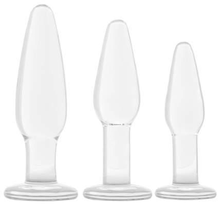 Набор из 3 стеклянных анальных пробок разного размера