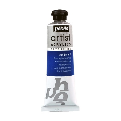 Акриловая краска Pebeo Artist Acrylics extra fine №2 фталоцианин синий 37 мл