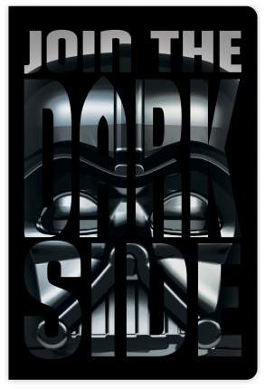 """Записная книжка LEGO """"Star Wars. Darth Vader"""",96 листов, линейка"""