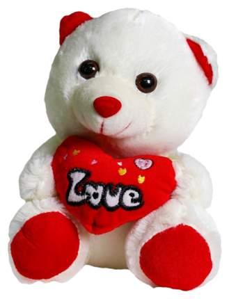 Мягкая игрушка Sima-Land Мишка с сердцем 4471235 Красный