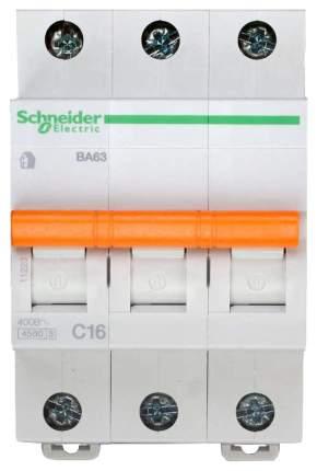 Выключатель автоматический модульный Домовой BA63, 3 поста, C, 16 А, 4.5 кА