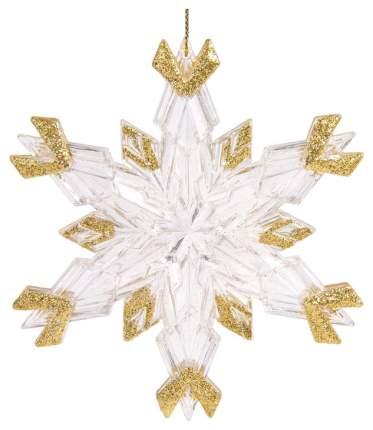 Елочная игрушка Феникс Present Снежинка с золотом 78036