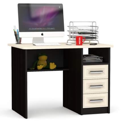 Стол письменный Мебельный Двор 1.05 фасады из профиля МДФ венге/дуб 102х70х75 см.