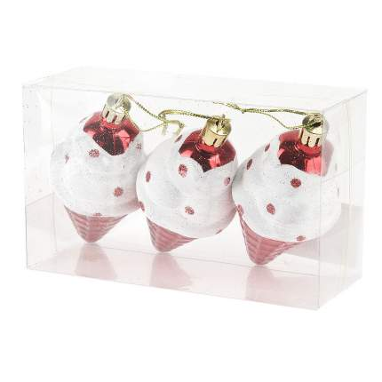 Набор елочных игрушек Monte Christmas Мороженое N9902253 10 см 3 шт.