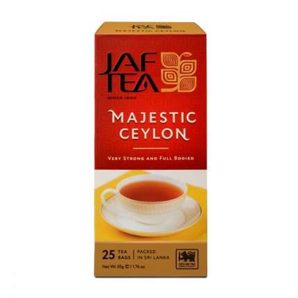 Чай Jaf Tea Majestic Ceylon черный 25 пакетиков