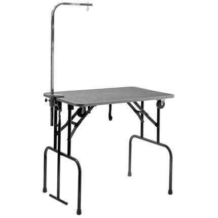 Стол для груминга ZooOne Профи, складной, с колесами, ручкой и кронштейном, 92x60x83 см