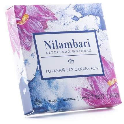 Шоколад горький Nilambari без сахара 92% 65 г