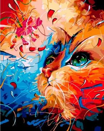 "Картина по номерам ВанГогВоМне ""Кот в абстракции"", 40x50"