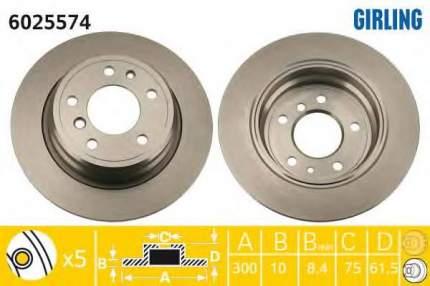 Тормозной диск GIRLING 6025574