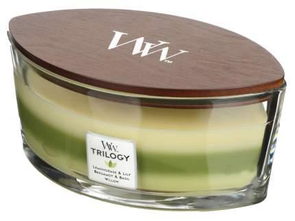 Ароматическая свеча WoodWick Зелёный оазис 505747 Бежевый, зеленый