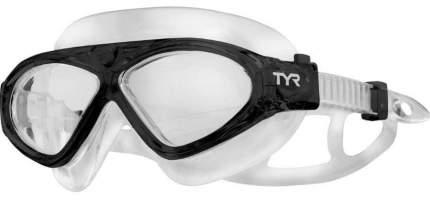Очки-полумаска для плавания TYR Adult Magna Swimmask черные/прозрачные (001)