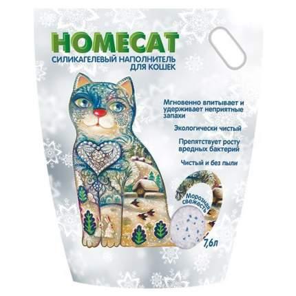 Наполнитель HOMECAT Морозная свежесть впитывающий 7.6 л 3.6 кг силикагелевый