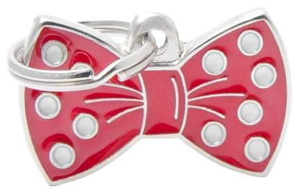 Адресник для кошек и собак My Family Charms Бантик (3 см, Красный)