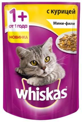 Влажный корм для кошек Whiskas Мини-филе с курицей, 24шт, 85 г