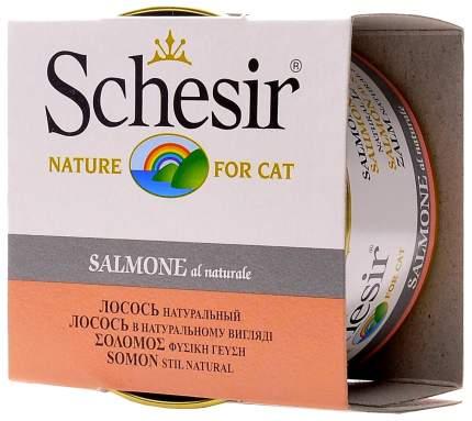 Консервы для кошек Schesir, лосось, кусочки, 14шт, 85г