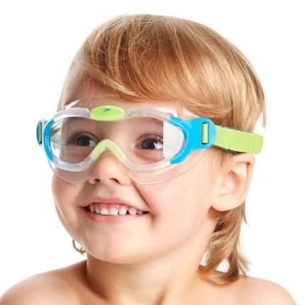 Очки-полумаска для плавания Speedo Sea Squad Mask, 2-6 лет, голубые/прозрачные (8029)