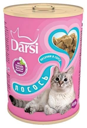 Консервы для кошек Darsi, лосось, 12шт, 415г