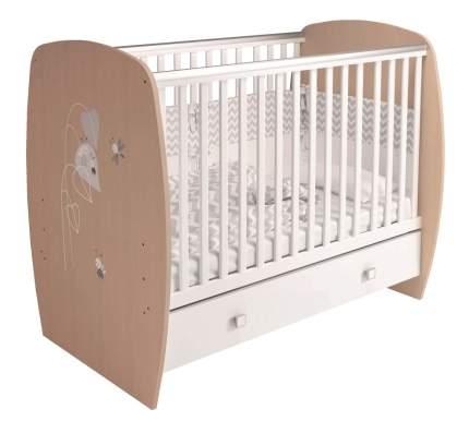 Кроватка детская Polini Kids French 700 Amis белый Дуб пастельный