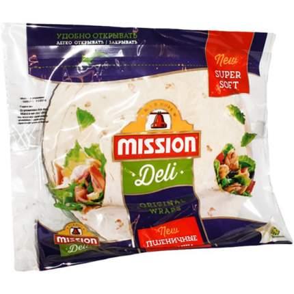 Лепешка Mission Deli тортильи пшеничная оригинальная 6 штук 250 г
