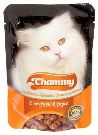 Влажный корм для кошек Chammy печень в соусе, 85 г