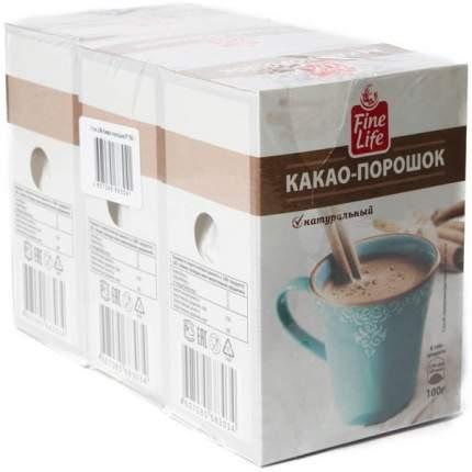 Какао-напиток Fine Life натуральный 100 г 3 штуки