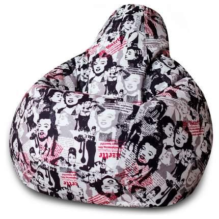 Кресло-мешок DreamBag Леди, размер XL, жаккард, белый; красный; черный