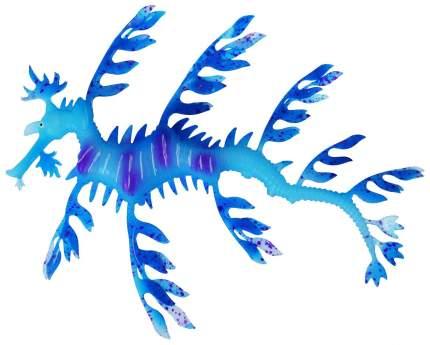 Декорация для аквариума JELLY-FISH Морской дракон светящийся, силикон, 19х15х2 см