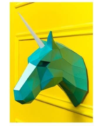 Набор для сборки полигональных фигур: Единорог бирюзовый