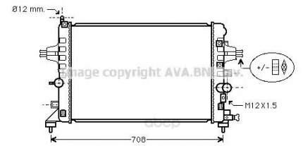 Pадиатор системы охлаждения мкпп Opel Astra H, Zafira 04 Ava OLA2363