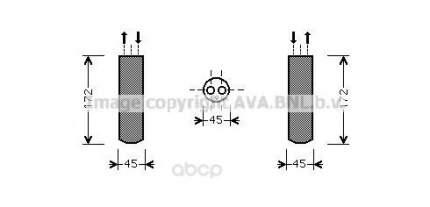 Радиатор кондиционера автомобильный Ava MZD185